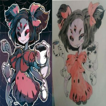 Redraw of Muffet by Laedys