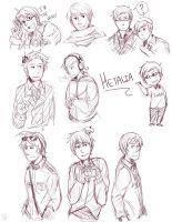 Hetalia sketches by Sydsir