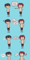 Never Again - Rin and Haru by pyohappy