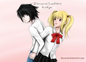 Death Note - L x Misa by Kuronah