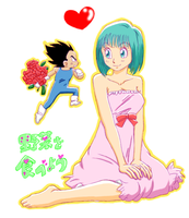Vegeta and Bulma by Lolaa93
