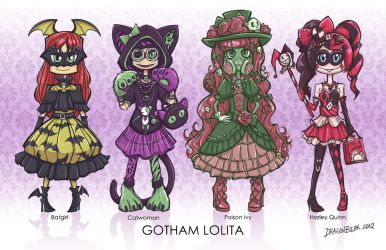 Gotham Lolita Gals by DragonBeak