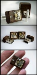 Mechanical Memory Cufflinks by back2root