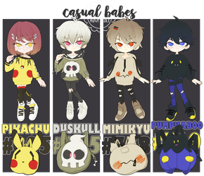 adopt: casual babes pokemon [1 LEFT] by amepan