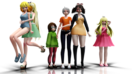 Loud House MMD Giant Model Pack DL by knuclesfan4556
