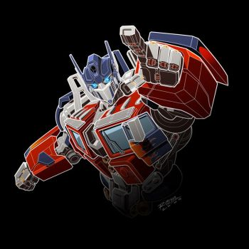 Optimus Prime white lines by REX-203