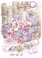Books, books and more books. by Asu-hime