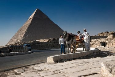First View Of The Pyramids by InayatShah