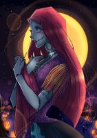 sally the nightmare before christmas by Invader-celes