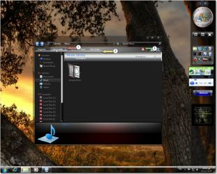 Red Metalic V2 for windows 7 by fares123