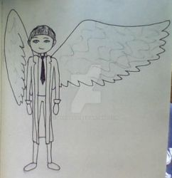 Castiel by anahbois