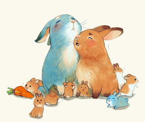 Bunny family by prema-ja