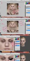 Basic Make Up Tutorial For 3D Models by MamaMangle
