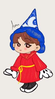 Jimin as The Sorcerer's Apprentice by AsmaThEnthusiast