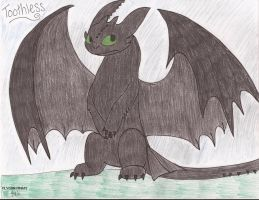 Toothless by SilentDragon64