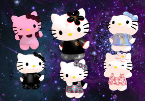 Hello Kitty Model Pack 3 + Download by Aira-Melody