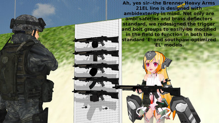 [MMD DL] Brenner Heavy Arms 21 Pack (0.9b) by ChibiAI-kun