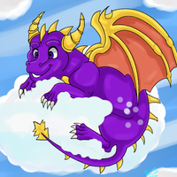 Spyro on a cloud by dragonrace