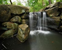 Central Park Waterfall by JMCS