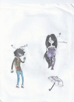 Marciline The Vampire Queen And Marshall Lee by superd19926