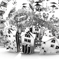 surrealistic houses -Mandelbulb3D with Parameter by matze2001