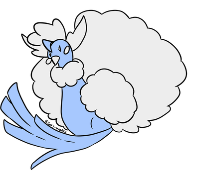 this is a mega altaria by PatMonahanFangirl