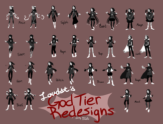 Loudst's God Tier Redesigns by L0UDST