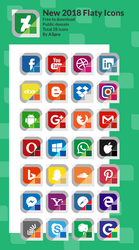 New 2018 Flat Social icons - By @a3pro by momed-12