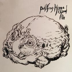 Inktober 08 Hippotoad by butterfrog