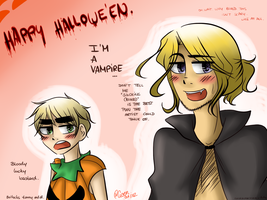 NON CREATIVE HALLOWE'EN THEMED HETALIA PICTURE. by TheGweny
