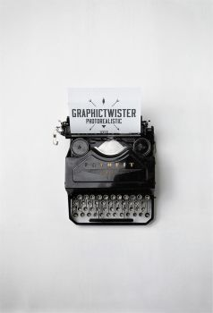 Typewriter Mockup by graphictwister