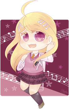 The cute piano girl by D-issimulate
