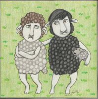 Perfect Strangers Sheep by angelacapel