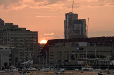 Setting Sun In the Boston Harbor 3 by Miss-Tbones