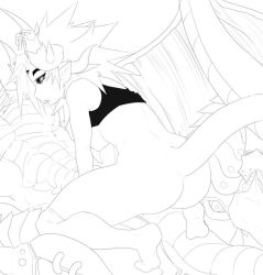 Razeal and Niardis Lineart by SignHerePlease