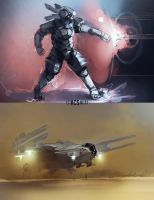 Speed Painting, Armor and Vtol by Shimmering-Sword