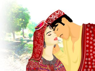 Traditional Sindhi Couple by ArsalanKhanArtist