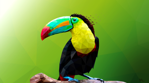 Toucan low poly art by Maye5