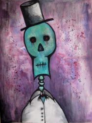 the skeletal gentleman by halloweenkid
