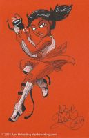 Chell Sketch Card by alex-heberling