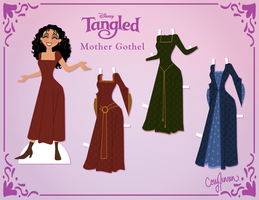 Mother Gothel Paper Doll by Cor104