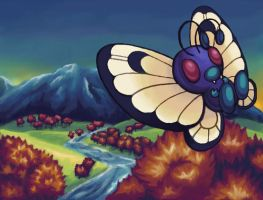 Autumn Butterfree by Wooded-Wolf
