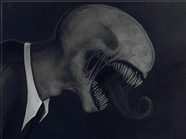 Slenderman watches Humanity by BossG13