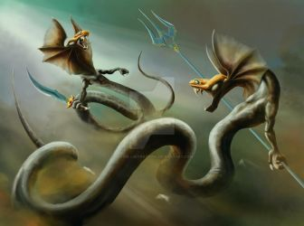 Watersnakes by Soys-illustrations