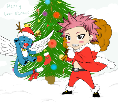 Merry Christmas from Fairy tail by kaizphoenix