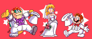 Mario Wedding by MrBowz