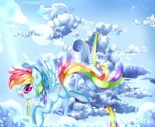 Cloudsdale's best flier Rainbow dash! by AquaGalaxy