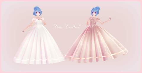 [MMD] Pretty Gown pack [Download available]! by AyaneFoxey