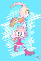 Fly me up! Amy and Cream by RGXSuperSonic