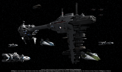 Rebels Fleet by DarkSapiens